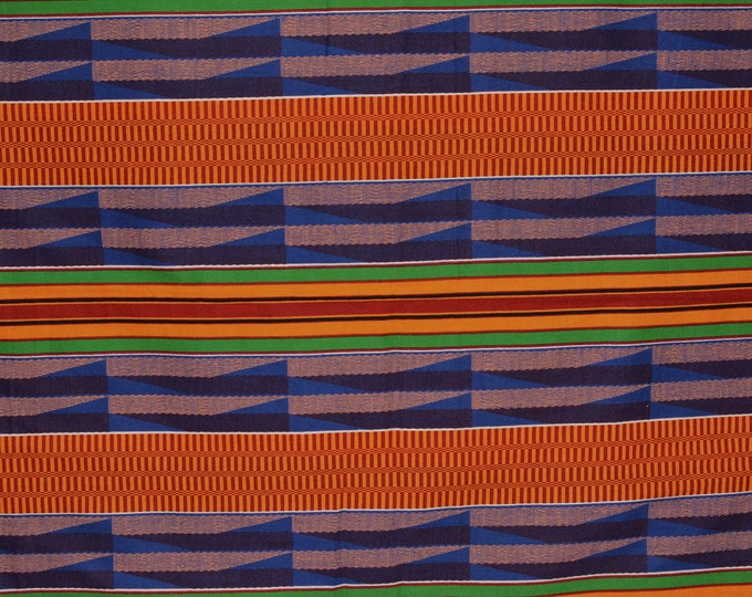 Printed striped fabric Africa Kente style