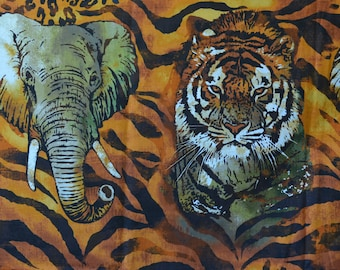 Exotic animal fabric tiger stripe Wild Side by Robert Kaufman fabric by the yard cotton