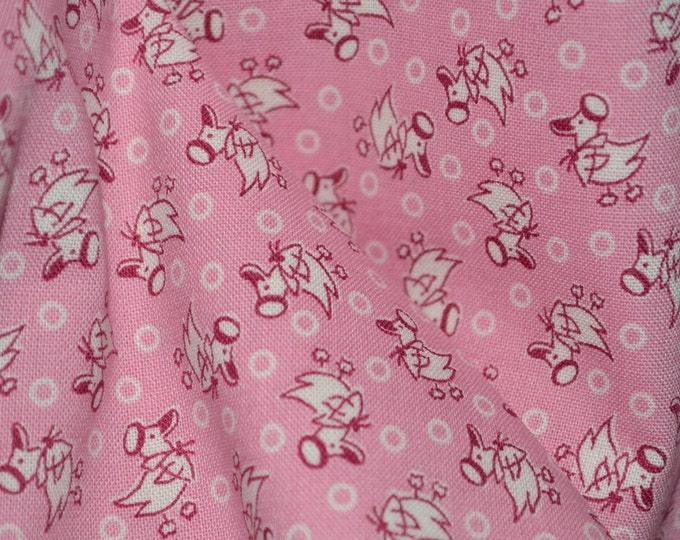 Pink baby quilting cotton Blue Hill fabrics, for baby nurses face mask making