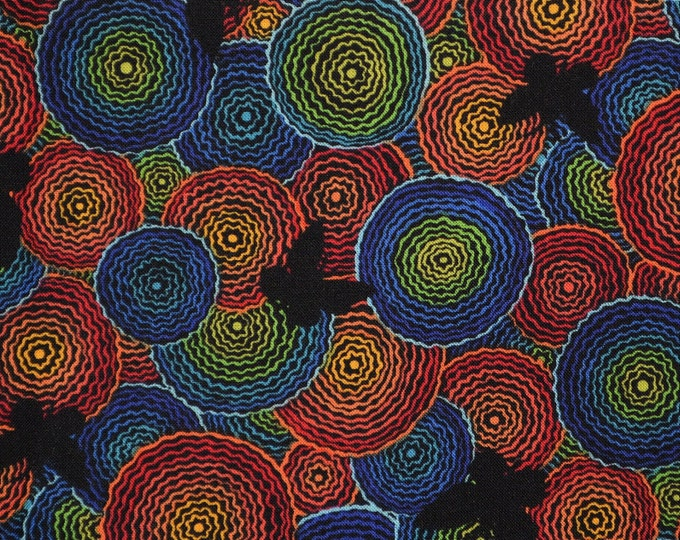 Butterfly fabric, Op Art psychedelic fabric inspired by Erte Woodrow Studios