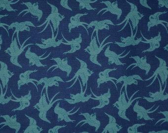 Blue bird fabric, RJR fabric, Swallow bird Jinny Beyer quilt fabric