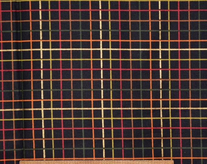 Fabric with grid, small squares, Kensington studio, Quilting Treasures