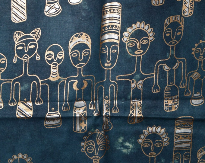 African fabric, tribal family tie dye fabric