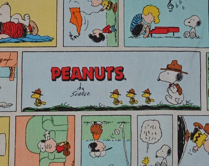 Springs Creative fabric Peanuts Gang newspaper comic strip fabric half yard