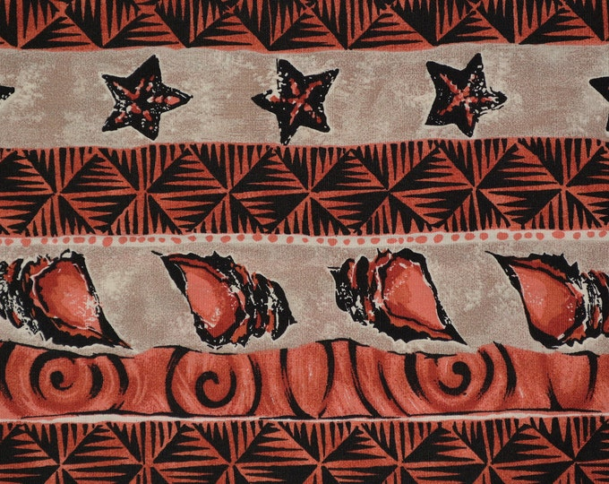 Sea Shell fabric beach shells Kona Bay fabric striped fabric