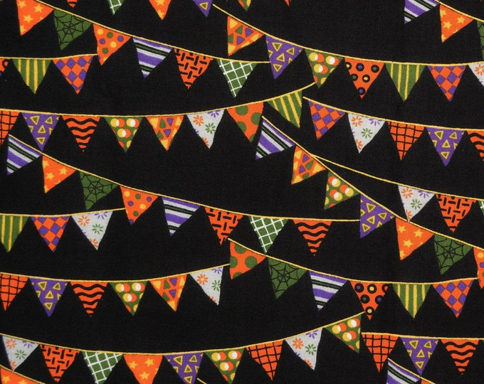 Halloween fabric, multi color Halloween modafabrics Deb Strain