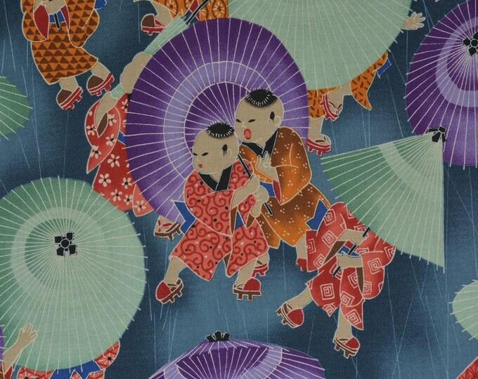 Japanese fabric Alexander Henry rare Japan Asian boys