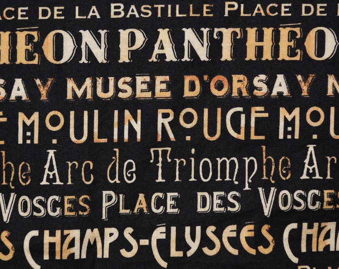 Paris fabric Windham fabric French words famous France landmarks