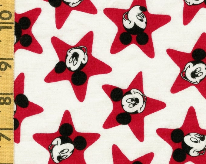 Retro Mickey Mouse fabric remnant