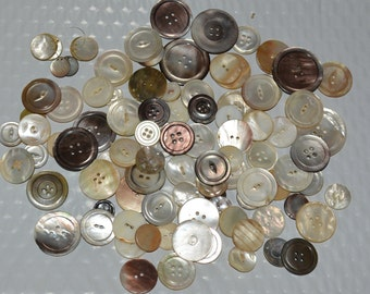 MOP buttons Vintage mother of pearl buttons