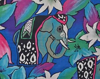 elephant vintage fabric Bombay Boho elephants