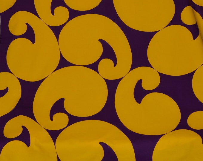 1970s Mod pop art fabric canvas cotton