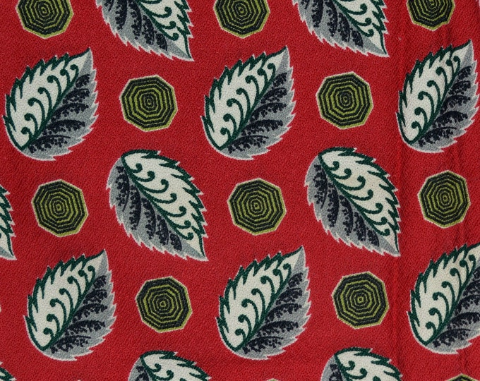 1950s barkcloth upholstery fabric, deadstock fabric