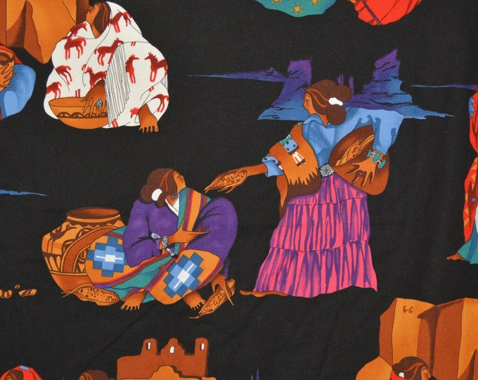 Navajo women fabric, Alexander Henry fabric OOP