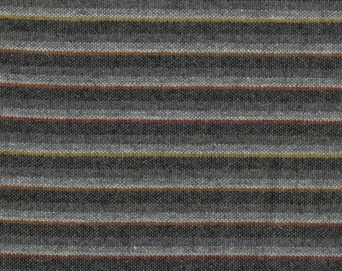 Grey striped Pure wool fabric, possibly Pendleton