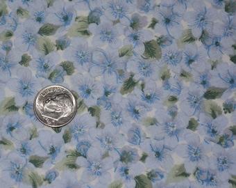 Sweet blue floral fabric, Daisy Kingdom Primroses
