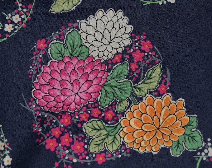 Asian Japanese floral fabric Japanese print fabric Japan fabric flowers Momen House