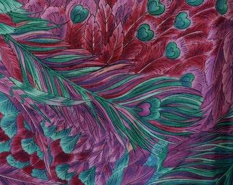 Peacock fabric, Peacock Feather fabric, Hoffman International
