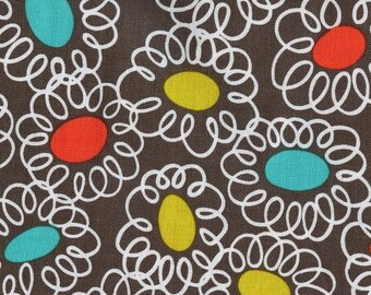 Mod retro fabric by the yard, Michael Miller fabric whimsical fun