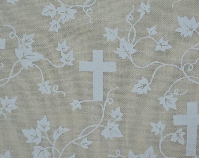 Christian cross fabric religious fabric cross screen print