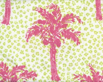 Palm tree beach upholstery fabric Brunschwig and Fils