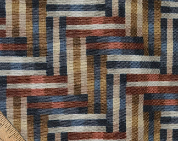 Geo fabric repeating patterns upholstery fabric earth tones