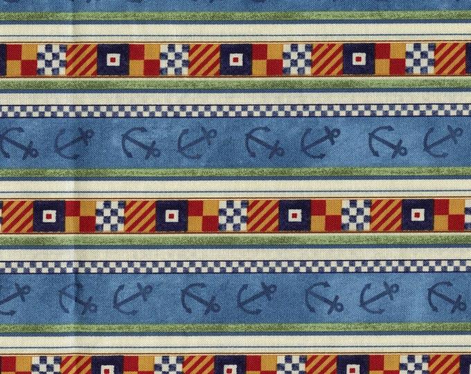 Nautical fabric striped, SSI fabrics David Carter Brown