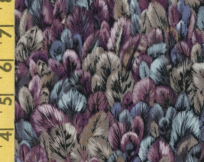 Bird tail feathers fabric, Robert Kaufman