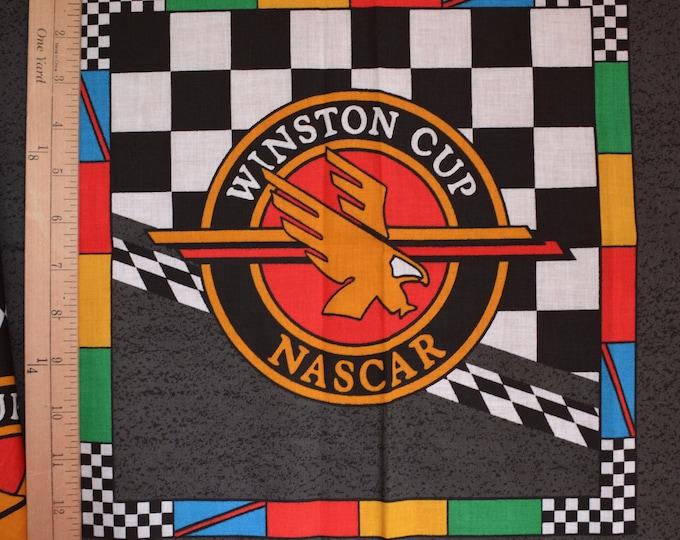 NASCAR racing fabric panels, Winston Cup fabric and Ernie Irvan