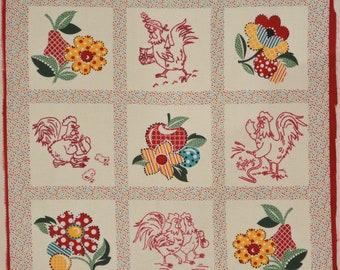Modern retro kitchen fabric panel, Kaye's Kitchen, Kaye England Benartex