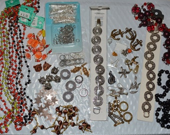 Destash beads lot miscellaneous jewelry making assemblage supplies