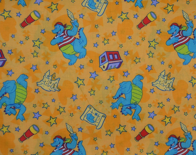Cartoon fabric for kids storybook dragons