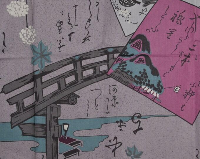 Abstract Japanese fabric Asian fabric modern Japanese HanaMomen