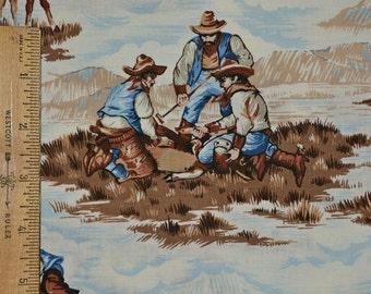 Western Cowboy fabric, cattle drive Cranston VIP Fabric