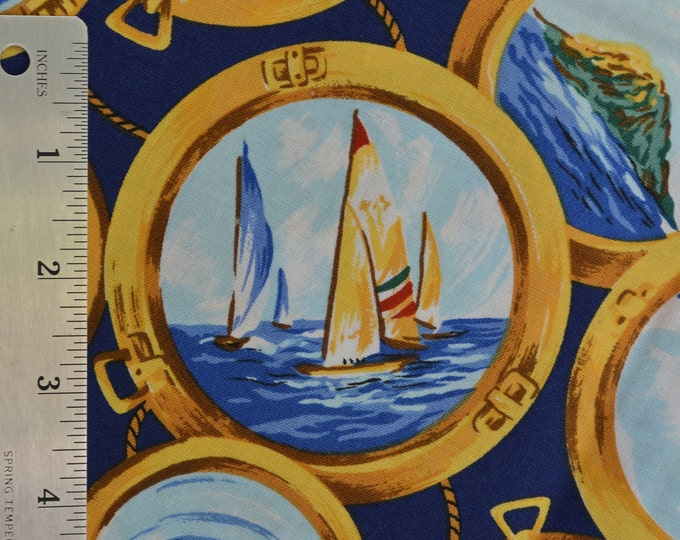 Sailing fabric, regatta sailing nautical fabric for DIY face mask