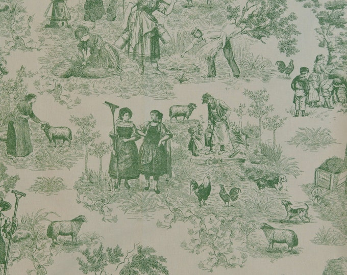 Toile fabric, French country toile upholstery fabric