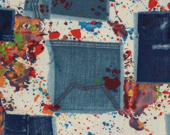 1970s fabric, vintage Schwartz Liebman fabric