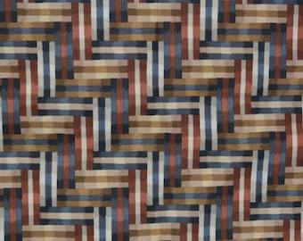 Geometric upholstery fabric, contemporary fabric, Escher style