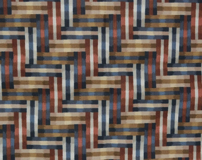Geometric upholstery fabric, contemporary fabric, Escher style