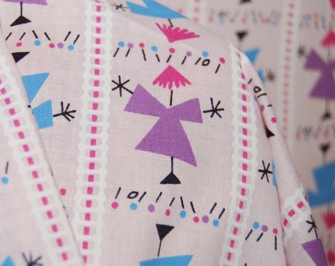 Vintage Novelty fabric dress form novelty striped fabric