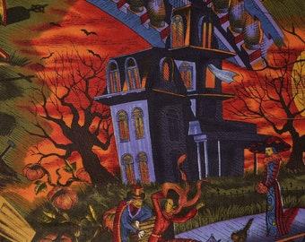 Halloween fabric rare Alexander Henry fabric stroke of midnight