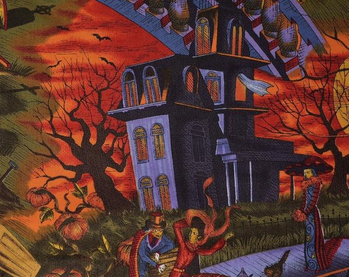 Gothic Halloween fabric ghastlies Stroke of Midnight Alexander Henry fabric