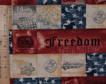 USA fabric, Patriotic fabric, Americana fabric, Freedom fabric, Robert Kaufman