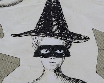 J Wecker Frisch Halloween witch fabric panel Sew Scary
