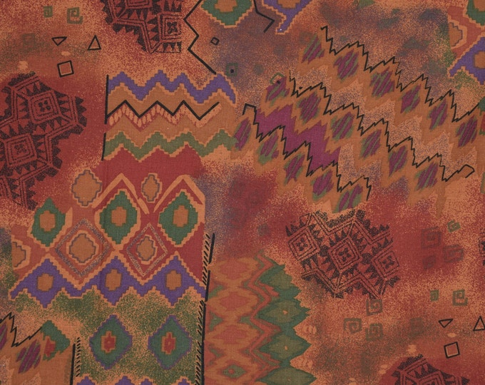 Tribal Southwest vintage fabric by the yard