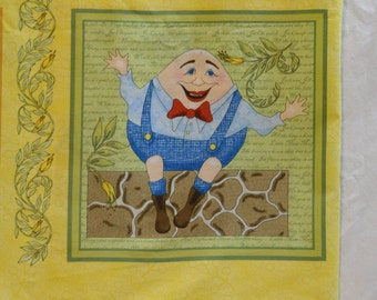 Mother Goose Nursery fabric panels baby quilt panels
