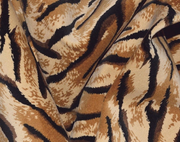 African animal Velveteen fabric by the yard Tiger stripe fabric for Tarzan costume or jungle photo booth props