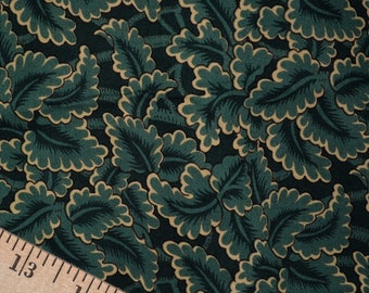 Green leaves print fabric colonial fabric William Morris Windham Fabrics Colonies pattern 20536