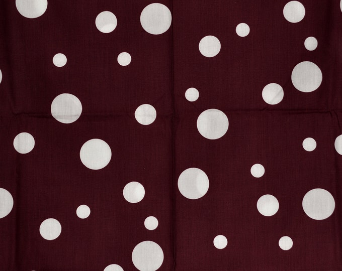 Maroon white polka dot fabric Texas Aggies fabric with dots