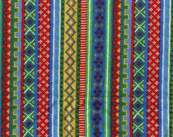 Folksy Christmas fabric, Lisa McCue for SSI fabric